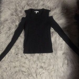 Black Sweater w/ Shoulders Out